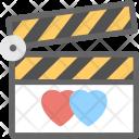 Romantic Movie Clapper Board Icon