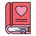 Romantic Novel Book Love Icon