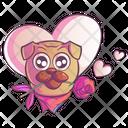 Romantic Pug Icon