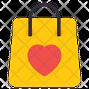 Valentine Shopping Romantic Shopping Handbag Icon