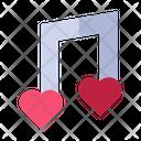 Love Music Note Love Valentine Icon