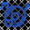 Romantic Music Sound Icon
