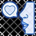 Romantic Talk Love Speech Bubble Icon