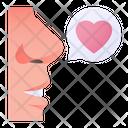 Romantic Talk Speech Bubble Love Icon