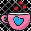 Tea Cup Coffee Cup Romantic Tea Icon