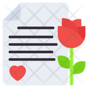Romantic Valentine Letter Love Letter Love Paper Icon