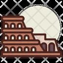 Rome Monuments City Icon