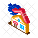 Roof In Tornado Icon
