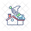 Roof Snow Removal Hand Roof Icon