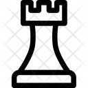 Rook White Game Icon