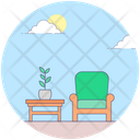 Room Furniture Room Interior Chair Icon