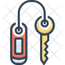 Room Key Security Turnkey Icon