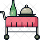 Room Service Food Trolley Service Icon