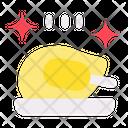 Chiken Roaster New Year Celebration Icon