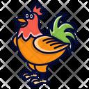 Rooster Farm Farming Icon