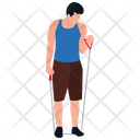 Rope Exercise Physical Game Physical Activity Icon