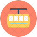 Ropeway Chairlift Aerial Icon