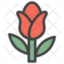 Rosebud Rose Flower Icon