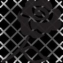 Rose Flower Stem Icon