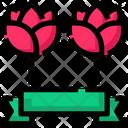 Spring Rose Ribbon Icon