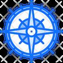 Rose Wind Navigation Icon
