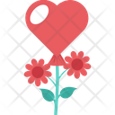 Rose Heart Blooming Relations Icon