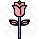 Rose Blossom Plant Icon
