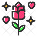 Rose Flowers Marriage Icon