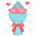 Rose Bouquet Heart Icon