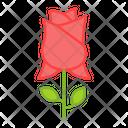 Rose Flower Floweret Icon