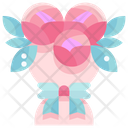 Rose Bouquet Flowers Bouquet Icon
