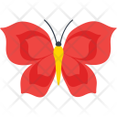 Rose Flower Butterfly Icon