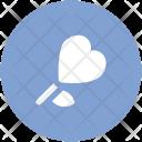 Rosebud Heart Shaped Icon
