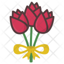 Roses Bouquet Flowers Icon