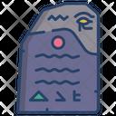 Rosetta Stone Stone Art Icon