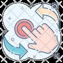 Rotate Clockwise Segmented Circle Icon