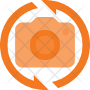 Rotate Vertical Camera Icon