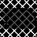 Arrow Semi Backward Icon