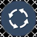 Rotation Clockwise Segmented Circle Icon