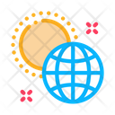 Rotation Earth Around Icon