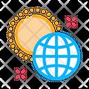 Rotation Earth Around Sun Icon