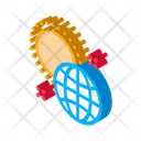 Rotation Earth Around Icon