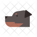 Rottweiler Police Dog Guard Icon