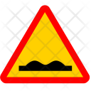 Rough road sign Icon