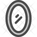 Round Mirror Glass Icon