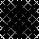 Round Centered Snowflake Icon