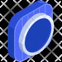 Round Isometric Icon