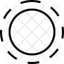 Round Circle Broken Icon