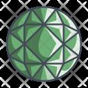 Round Brilliant Diamond Icon