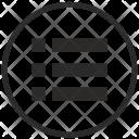 Round Border List Icon